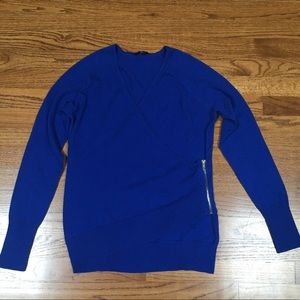 NWOT Blue Wrap Sweater